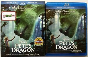DISNEY PETES DRAGON LIVE ACTION BLU RAY DVD 2 DISC SET + SLIPCOVER SLEEVE BUY IT