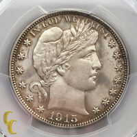 1915-S Silver Barber Half Dollar 50C PCGS Graded Genuine UNC Details (Graffiti)