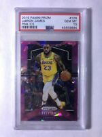 2019-20 Panini Prizm Pink Ice #129 LeBron James PSA 10 GEM MT Lakers Finals MVP