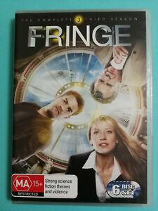 Fringe DVD Season 3 SCi-Fi Fantasy MA15+ R4 6 disc set BINGE VGC
