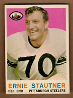 1959 Topps #69 Ernie Stautner Pittsburgh Steelers HOF Near Mint NM condition