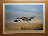 Very Rare Gulf War 1991 Print by well known Military Artist Michael Rondot