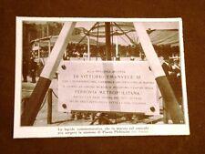 Napoli nel 1913 Posa della prima pietra costruzione della metropolitana Lapide