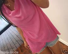 Neu Bluse M L Blogger Trend Shirt Pink 38 Tunika Hängerchen Boho Jumper Musthave