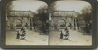 Roma Italia Foto Stereo Vintage Analogica 1901