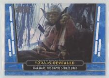 2017 Topps Star Wars 40th Anniversary Blue #28 Yoda is Revealed Card 1h5