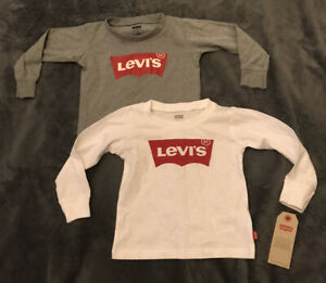 2 Boys Long Sleeves Levis Top size 18 months