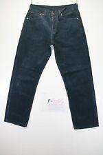 levis 582 Samt (Cod. F2055) Tg46 W32 L32 jeans gebraucht verkürzt blau Levi's