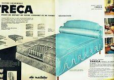 Publicité Advertising 089  1963 le nouveau matelas Tréca impérial Air spring (2p