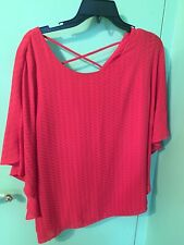 Alyx Shirt Women's Large Red Cute Blouse Top