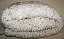 NEW CLASSY Handmade Crochet AFGHAN off white  RIPPLE Wedding Anniversary