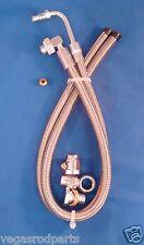 Braided Stainless Steel Power Steering hose kit Lokar ford rack & pinion braide