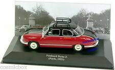 Miniature métal TAXI PANHARD DYNA Z de 1953 Paris noir et bordeaux little car