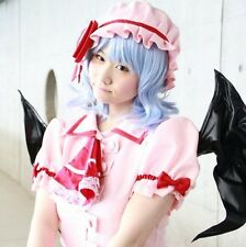 New Touhou Project Remilia Scarlet Short Blue Curly Cosplay Costume Party Wig