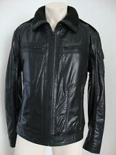 Redskins chaqueta de cuero chaqueta Biker style caballeros negros talla 2xl (como talla L) nuevo