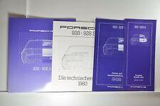 Porsche 928 und 928S Prospekt, Preisliste, Innenausstattung, techn. Daten 1980