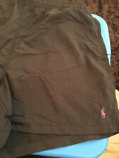 Polo Ralph Lauren Swim Shorts Black w/Purple Pony Size XL Brand New with Tags
