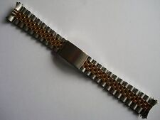 19MM GOLD ALLOY PLATED 2-TONE JUBILEE BAND BRACELET FOR ROLEX OLD DATEJUST WATCH