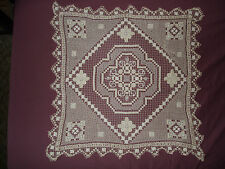 #288 Beautiful Vintage Handmade  Filet Doily  37''/37''(90cm/90cm)