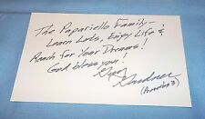 Guy Gardner Signed Autographed Index Card NASA Astronaut Great Content