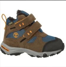 TIMBERLAND UK 11.5 EU 30 garçons bleu marron BOTTINES BASKETS Authentiques NEUF