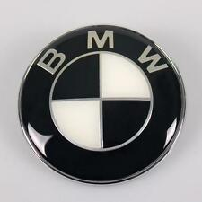 Bonnet Badge Emblem FITS BMW 82 mm E30 E36 E46 E60 3 5 7 X Series black/white