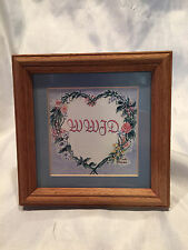 """Collectible 6X6""""  WWJD What Would Jesus Do Sign Picture Frame By Linda Grayson"""