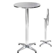 Tavolo bar bistrot rotondo alluminio da pub giardino tavoli 2 altezze pieghevole
