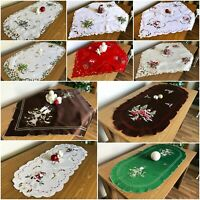 Amazing Christmas Table Runners Tablecloths Oval Square  Xmas with Bells Candle