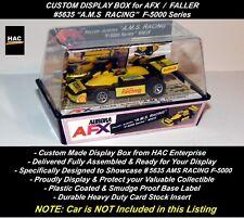 Custom Display Case Faller Afx #5635 A.M.S. Racing F-5000 Car