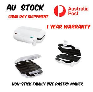 8X Non Stick Family Size Pastry Maker Pie Maker Machine 1 Year Warranty