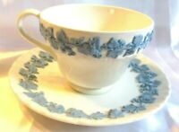 Wedgwood teacup Queensware tea cup and saucer raised relief grape vine England
