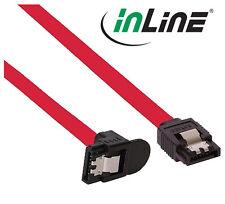 InLine SATA 3Gb/s Anschlusskabel, mit Sicherheitslasche, gewinkelt, 50cm