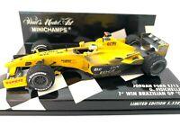 Ltd Ed 1:43 scale Minichamps Jordan EJ13 F1 Car - G Fisichella 1st Win Brazil 03