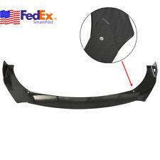 Car Front Bumper Lip Chin Spoiler Wing Body Trim Kit Universal Carbon Look Us 3x
