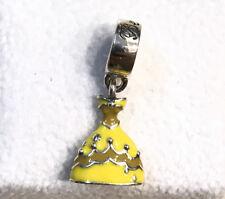 Pandora Disney Belle's Dress Charm Yellow Enamel 791576ENMX +Pouch +Gift Package