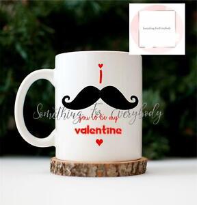Valentines Mug Printed Be Mine Coffee Tea Cup Novelty Gift I Love You