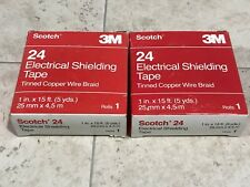 """SCOTCH 24 ELECTRICAL SHIELDING TAPE  1"""" X 15'  2 Boxes New Old Stock"""