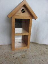Rustic wood wall decor w/mirror & shelves Shadow Box Bird House Handcrafted