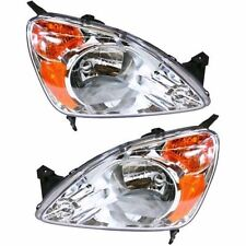 2002 2003 2004 HONDA CR-V HEADLIGHT LAMP PAIR PASSENGER RIGHT & DRIVER LEFT