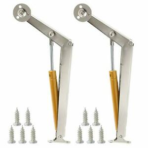 2 Pack Lid Support Hinge 200N/44lb Heavy Duty Gas Springs Lid Lifters Soft Close