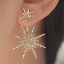 Boucles d'oreilles Ear Stud Cristal Star Bling Strass Boucle d'oreille Snowflake