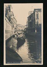 Italy Venice VENEZIA Rio Priuli Unposted c1900/10s? RP PPC