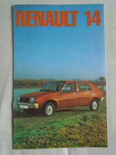 Renault 14 range brochure Dec 1976 small format