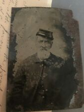Exceptionally Rare Tintype - Civil War Soldier In Uniform