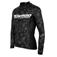 Men's Long Sleeve Cycling Jersey, Bike Zipper Shirt - Breathable & Quick Dry
