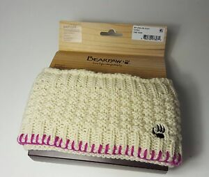 $35 size One Size Bearpaw Ivory Sweater Knit Boot Cuffs Womens Sock