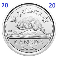 🇨🇦 2020 New Canada 5 cents UNC coin, Uncirculated, 2020