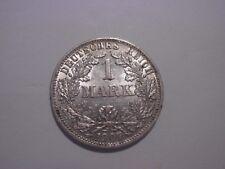 1 Mark 1907 F, Jg. 17,vorzüglich, fast stempelglanz, Silber 900