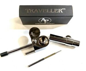 ORIGINAL AMERICANPIPES(tm)PROTO PIPE DELUX TYPE CHROME PLATED SOLID BRASS